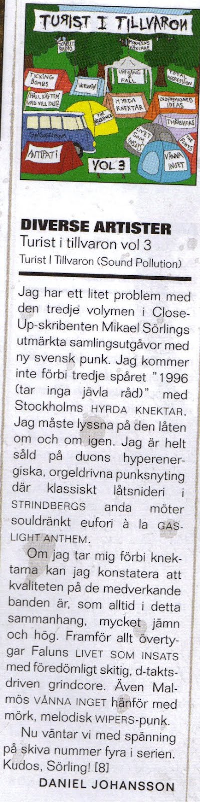 Close Up-magazine recenserar Turist i tillvaron vol.3